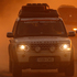 The Land Rover Journey of Discovery pushes through desert dust on its way to Beijing. Photo / Supplied