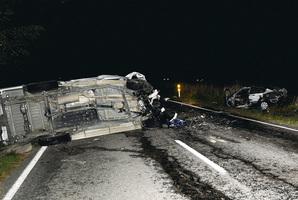 The scene of the accident in Gisborne. Photo / Gisborne Herald