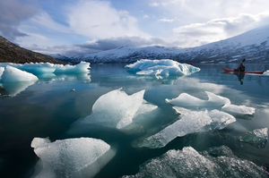 Norwegian Boerge Ousland, who has skied alone across the Arctic Ocean and the Antarctic, says he would recommend anyone planning a trek to the North Pole in a few years' time to bring a kayak. Photo / Thinkstock