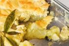 Golden delicious, passionfruit and lemon pie. Photo / Jason Dorday