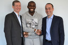 Bolton midfielder Fabrice Muamba was finally discharged from a London hospital today following his recovery from a cardiac arrest on the pitch. Photo / Bolton Wanderers/Twitpic