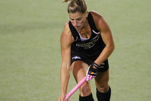 Blacksticks Gemma Flynn in action. Photo / Wayne Drought.