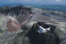 Take a scenic flight over Mt Tarawera, Rotorua, with Volcanic Air Safaris.  Photo / Supplied
