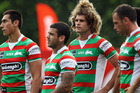 Matt King of the Rabbitohs and the team look on during the round seven NRL match between the New Zealand Warriors and the South Sydney Rabbitohs. Photo / Getty Images.