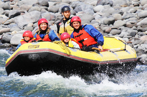 Kirsty Wynn and her family take on the Taupo Family Float, an inflatable boat ride down the lower stretches of the Tongariro River. Photo / Supplied