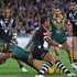 Johnathan Thurston of the Kangaroos scores a try. Photo / Getty Images