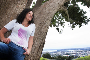 Mount Eden's peak is where Janneen Love likes to gather her thoughts. Photo / Chris Loufte