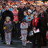 Members of the public watching the Anzac dawn service at the Paraparaumu Memorial RSA, Kapiti Coast. Photo / Mark Mitchell