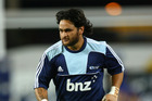 Piri Weepu of the Blues warms up before the round nine Super Rugby match. Photo / Getty Images