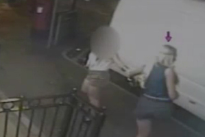 Emily Longley (purple arrow) was shown in CCTV footage arriving at a cafe after a fight with Elliott Turner (yellow arrow) who arrived later that night and tried to follow Emily when she left soon after.