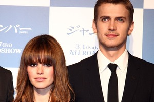 Hayden Christensen (R) and Rachel Bilson (L) at the Japanese premiere of Jumper. Photo / Getty Images