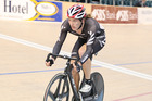 Shane Archbold in action in the omnium at the Oceania track cycling championships in Invercargill.