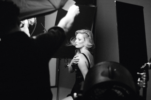 Kate Moss on the photo shoot for Dior Addict. Photo / Supplied