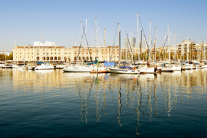 Barceloneta residents fear a plan to turn the Marina Port Vell into a home for superyachts will price them out of their neighbourhood. Photo / Getty Images