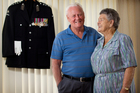 Theo Thomas, with wife Myrtle, says serving during World War II was 'about doing my bit'. Photo / Greg Bowker