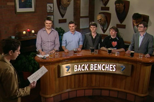 The TVNZ7 programme Back Benches. Photo / Supplied