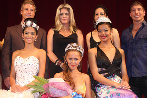 Rachel Hunter and her co-judges selected Tonika Walters, 16, as the winner of Miss World Fiji. Photo / Supplied