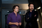 Mark Ruffalo and Robert Downey Jr. in a scene from The Avengers.  Photo / Supplied