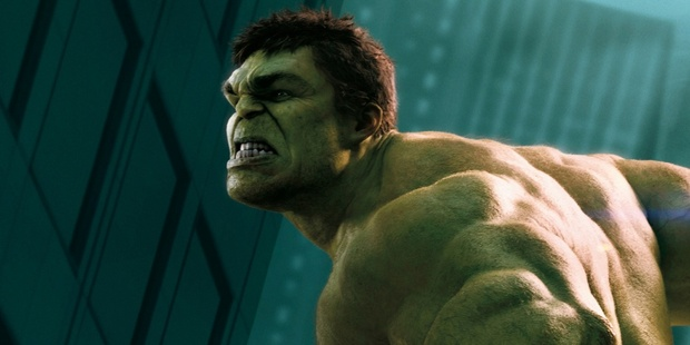 The Hulk is putting his anger to good work in superhero squad The Avengers. Photo / Supplied