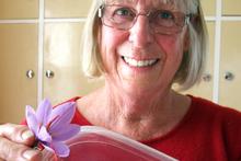 Central Otago's Roberta Laraman loves growing saffron. Photo / Otago Daily Times