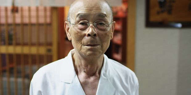 Jiro San in 'Jiro Dreams of Sushi'. Photo / Supplied