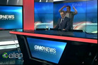 Peter Williams maintains a convincingly serious posture while Matai Smith dances. Photo / YouTube