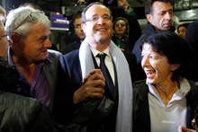 French socialist candidate for the presidential election Francois Hollande. Photo / AP