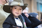 Veterans and children alike watched the Anzac Day parade. Photo / AP