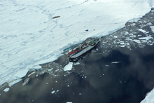 A vessel travels through the Ross Sea. Photo / Supplied