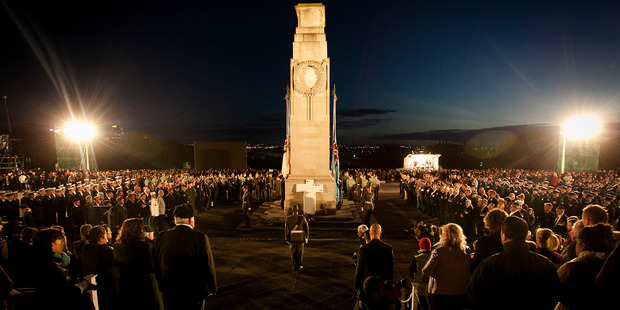 Many of them were young but by no means most.The crowd, of all ages, stood 30 deep at the Auckland Dawn Service. Photo / Natalie Slade