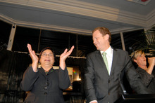 Metiria Turei and Russel Norman on election night, 2011. Photo / Michael Craig 