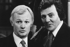 John Inman and Trevor Bannister in a scene from television programme - Are You Being Served? Photo / Supplied