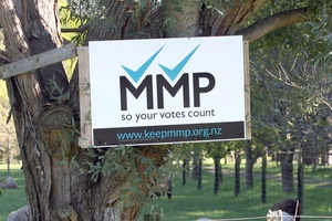 Voters had a chance to have their say on MMP in last year's election and it has now come under review by the Electoral Commission. Photo / APN