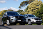Mazda CX-5 and VW Tiguan. Photo / David Linklater