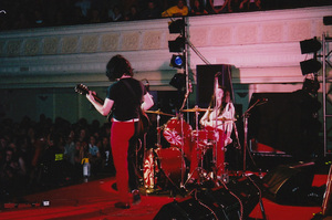 The White Stripes play the Wellington Town Hall. Photo / Henrietta Harris
