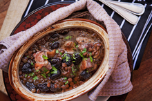Duck, dried cherries and lentils. Photo / Babiche Martens