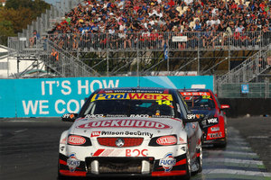 Fabian Coulthard in his Holden. Photo / Photosport.