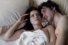 Roxanne Mesquida and Matt Whelan from the film The Most Fun You Can Have Dying. Photo / Supplied