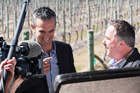 Judges Josh Emett and Simon Gault, filming Masterchef in Hawkes Bay. Photo / John Cowpland