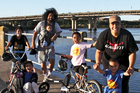 The Lefao-Setoga family enjoy the amenities of Mangere Bridge. Photo / Supplied