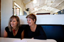 Anna Birkenhead (left) and Diana Rands feel at home in 'Gay Lynn'. Photo / Steven McNicholl