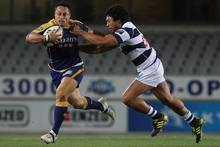 After a year away from the game in 2009, Ben Atiga (left) played for Auckland in 2010 and Otago in 2011. Photo / Getty Images