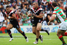 Russell Packer of the Warriors charges forward during the round seven NRL match between the New Zealand Warriors and the South Sydney Rabbitohs. Photo / Getty Images