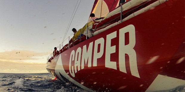 Camper are enjoying the fast-running conditions at the front of the Volvo Ocean Race and are continuing to keep rivals Puma within reach. Photo / Hamish Hooper.
