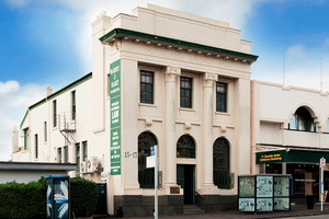 Exterior view of the early 20th century building at 15 Jervois Rd, Ponsonby - a former ASB Bank.