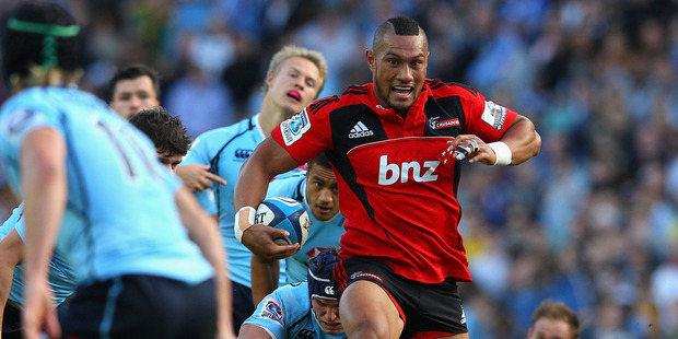 Robbie Fruean of the Crusaders is tackled during the round 10 Super Rugby match between the Waratahs and the Crusaders at Allianz Stadium. Photo / Getty Images.