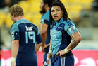 Ma'a Nonu of the Blues looks on in disappointment after the final whistle during the round 11 Super Rugby match between the Hurricanes and the Blues. Photo / Getty Images.