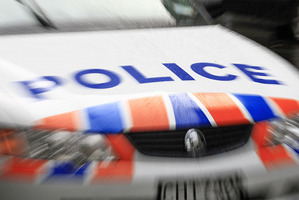 A police car was rammed three times on the North Shore this morning.