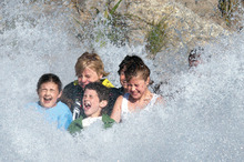The Big Splash at Rainbow Springs Kiwi Wildlife Park in Rotorua. Photo / Supplied