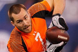 Rhett Ellison was selected in the fourth round of the NFL draft by the Minnesota Vikings. Photo / Dave Martin.